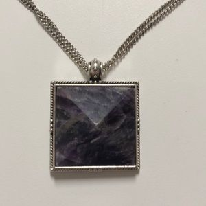 Lucky Brand Jewelry - Lucky Brand amethyst colored pendant necklace!